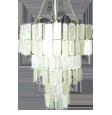 natürlicher weißer capiz Leuchter