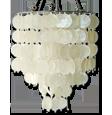 自然白色capiz枝形吊灯